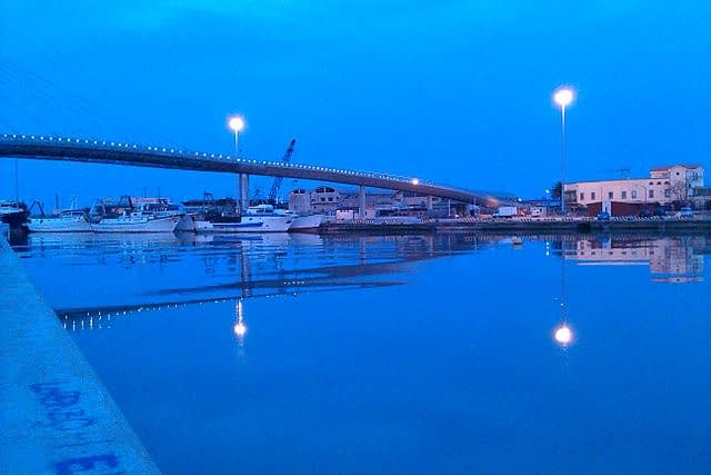 Abruzzo, Pescara Sea Bridge and Port