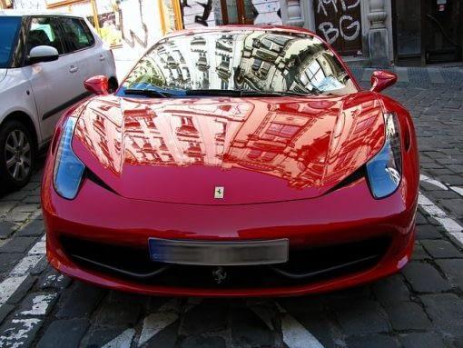 Motor racing Ferrari car