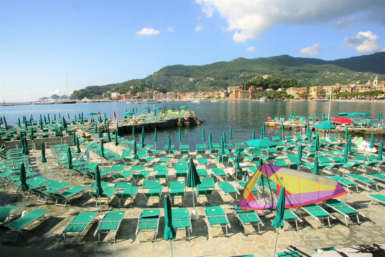 Santa Margherita Ligure - Hotel Metropole private beach and view