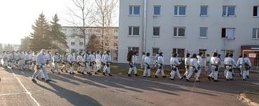 Germany Suhl Thuringia Migrants Riot Police
