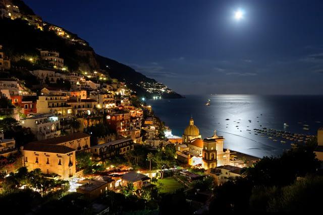 Positano, Amali Coast, by night