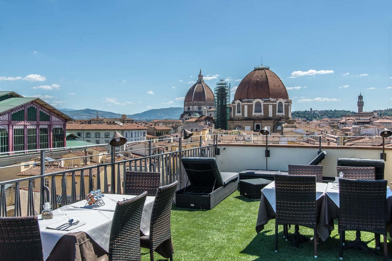 Florence - Hotel Machiavelli Palace, terrace wth view
