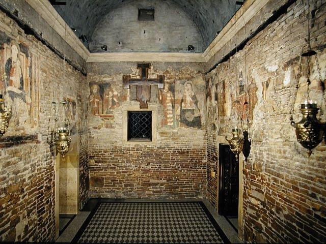 Holy House Three Walls inside Loreto Basilica