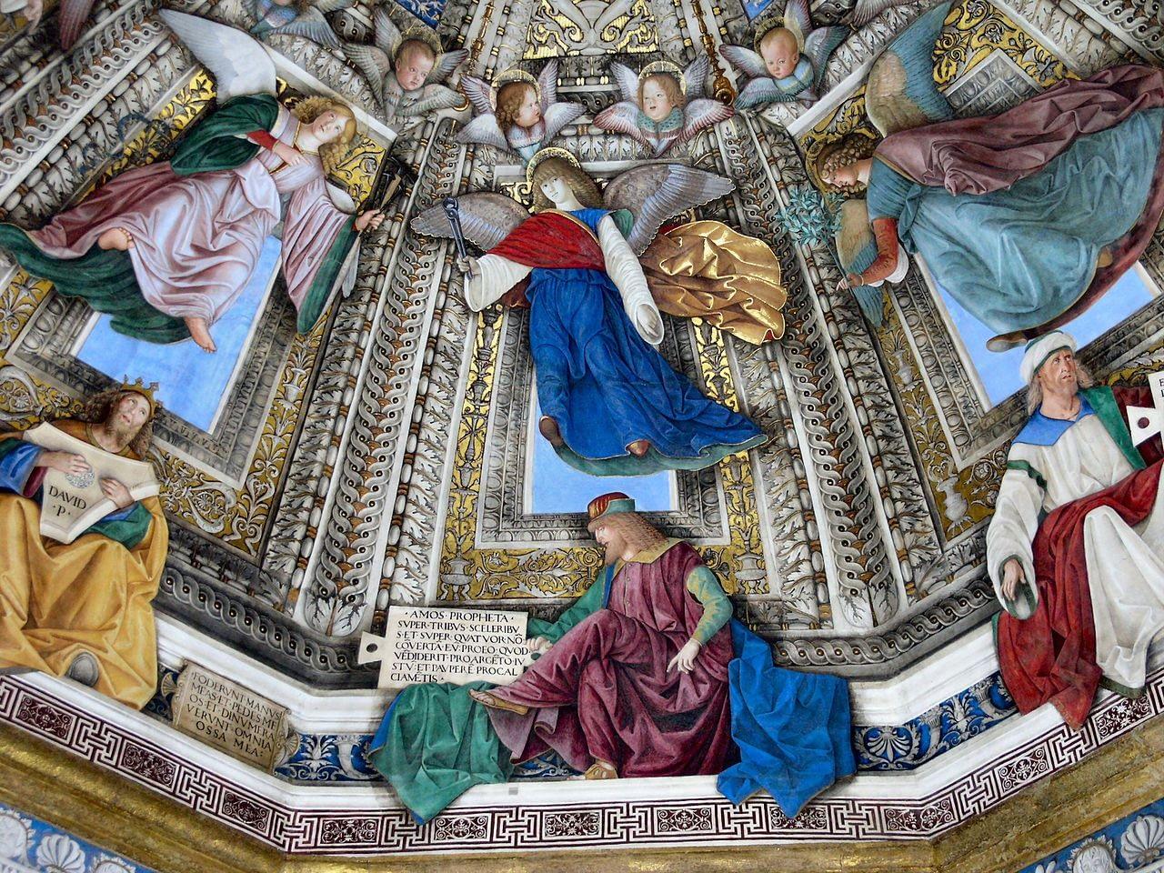 Loreto Sanctuary Dome's Fresco by Melozzo da Forlì