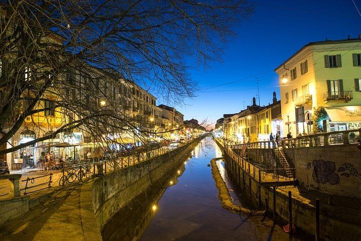 Milan - Navigli canals by night