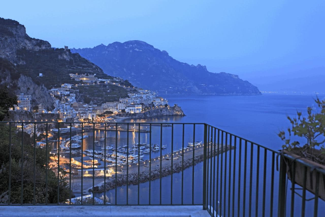 Hotel Il Nido Amalfi - the view from a balcony