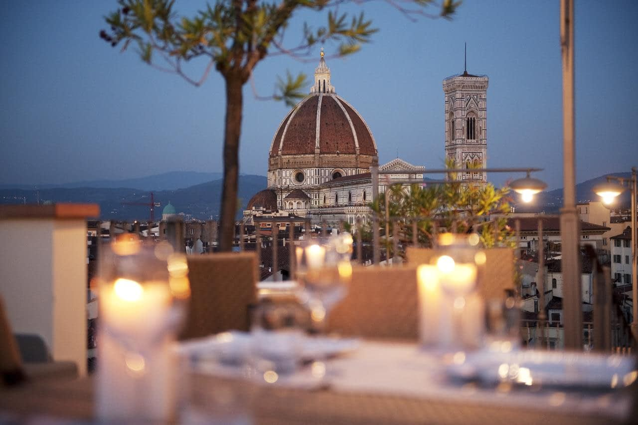 Florence - Grand Hotel Baglioni rooftop restaurant's view