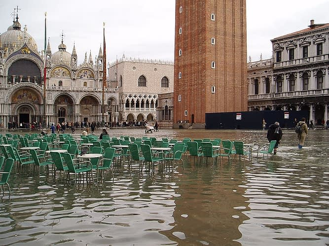 Venice, Saint Mark Square high water