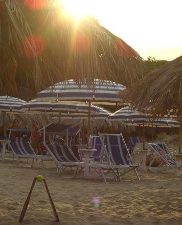 Silvi Marina beach at the end of summer