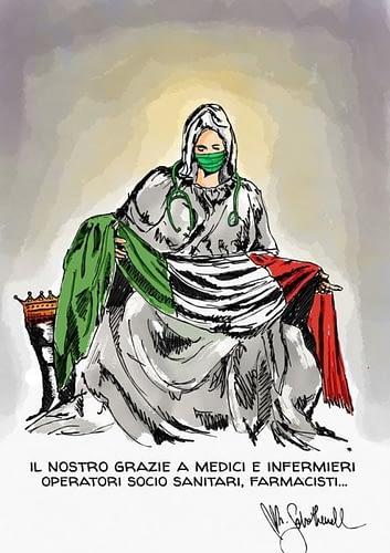 Michelangelo's Pieta during Coronavirus Times