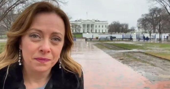 Giorgia Meloni in Washington National Prayer Breakfast February 2020