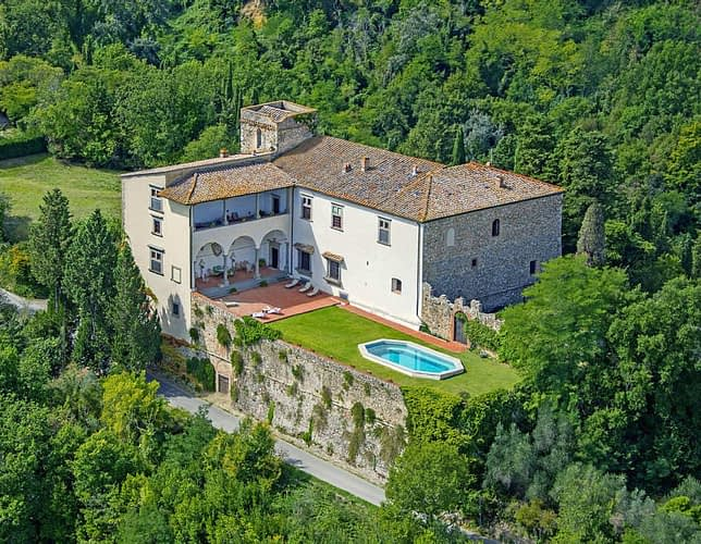 The splendid, historic Castello di Pergolato in Chianti, Tuscany
