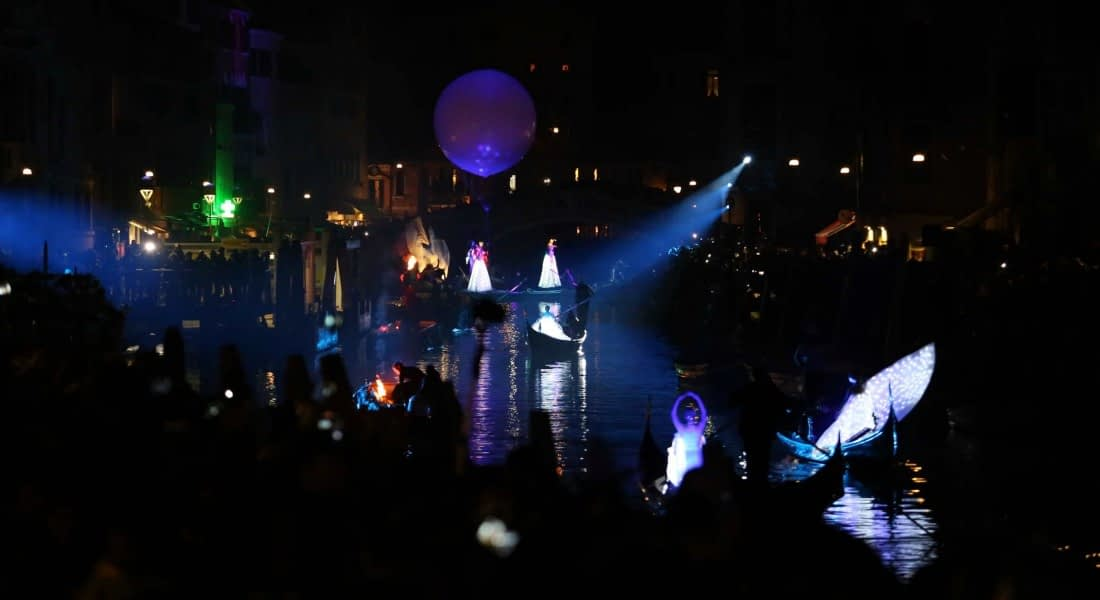 Venice Carnival. Festa Veneziana on the Water, first part