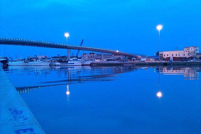 Abruzzo, Pescara Sea Bridge and Port