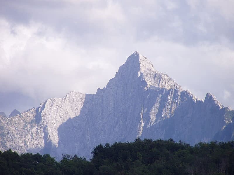 Pizzo d'Uccello mountain in the Apuan Alps
