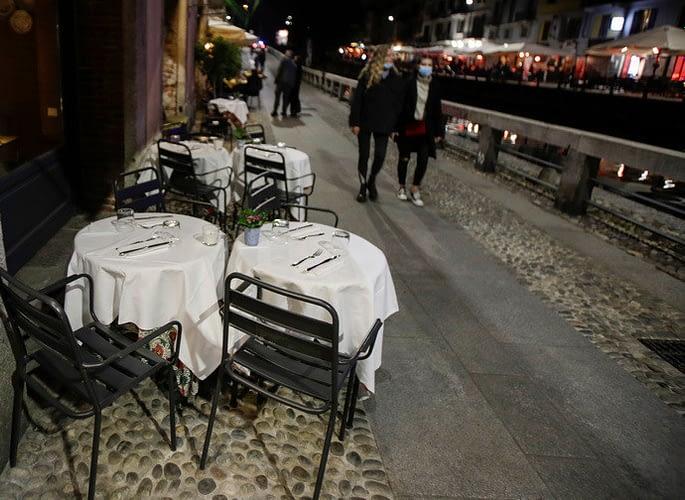 Italian street in Coronavirus lockdown