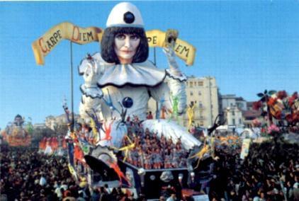 Viareggio Carnival - Renato Zero float