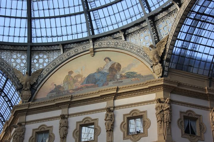 Milan - Fresco in the Vittorio Emanuele Gallery