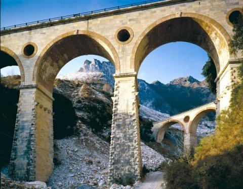Vara Viaducts in the Carrara marble quarries