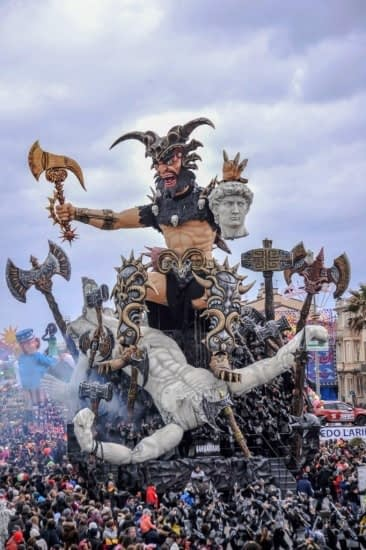 "Viareggio Carnival - ""The Barbarians"" float"