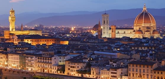 View of Florence, birthplace of the Italian language