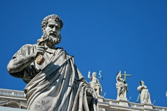 Saint Peter's statue in front of Saint Peter's Basilica in Rome