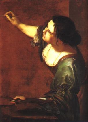 Italian female painter Artemisia Gentileschi