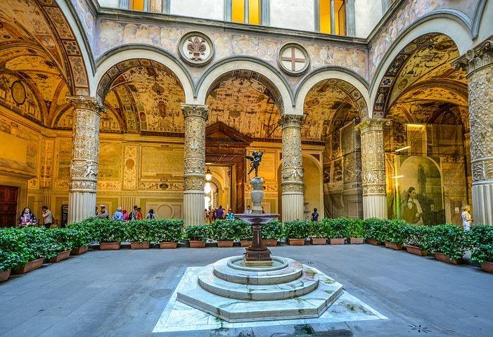 Florence - Michelozzo's Courtyard, Cortile di Michelozzo, in Palazzo Vecchio
