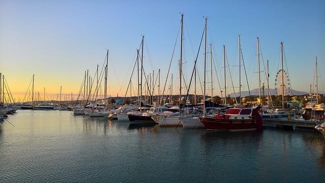 Sunset on Pescara Harbour, Abruzzo Italy