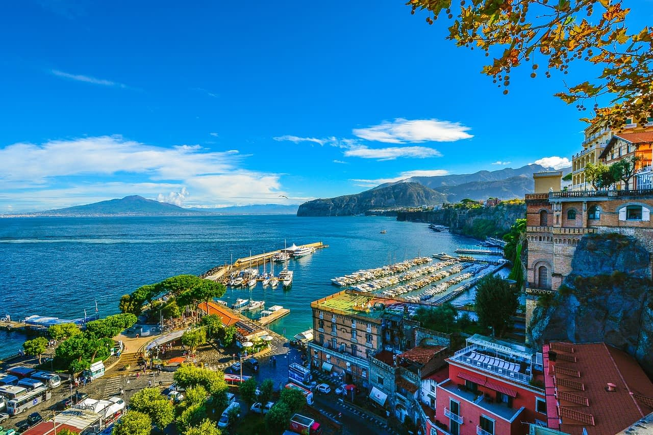 Sorrento Bay with Mount Vesuvius