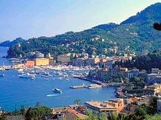 Santa Margherita Ligure, Italian Riviera, aerial view
