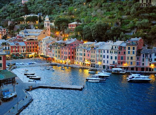 Portofino at sunset