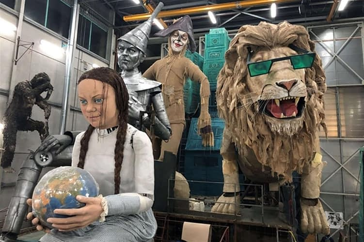 Viareggio Carnival 2020 - Greta Thunberg Float Unfinished