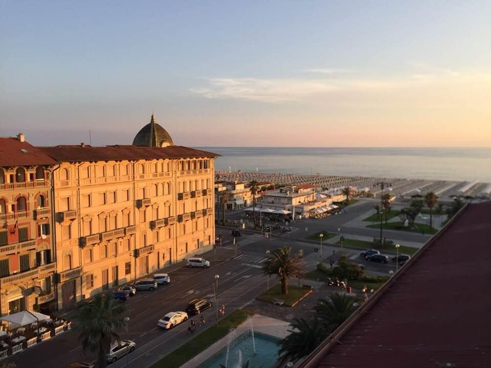 View from Hotel Lukas Viareggio