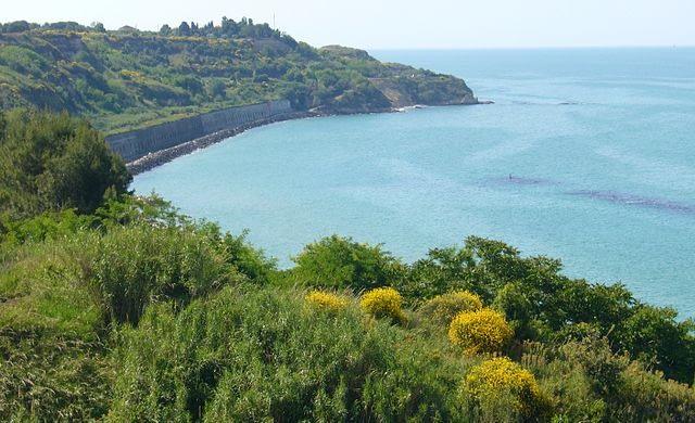 Punta Ferruccio beach Abruzzo Coast