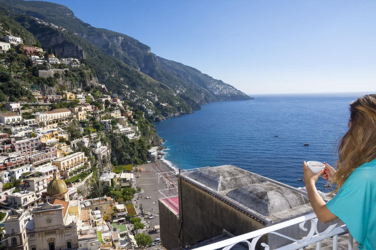 Hotel Reginella in Positano - view from balcony