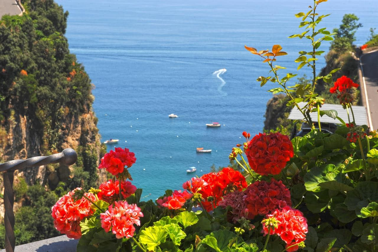 Hotel La Pergola Amalfi - the view from a balcony