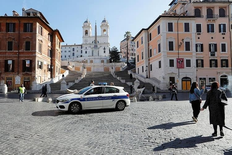 Rome, deserted Spanish Steps