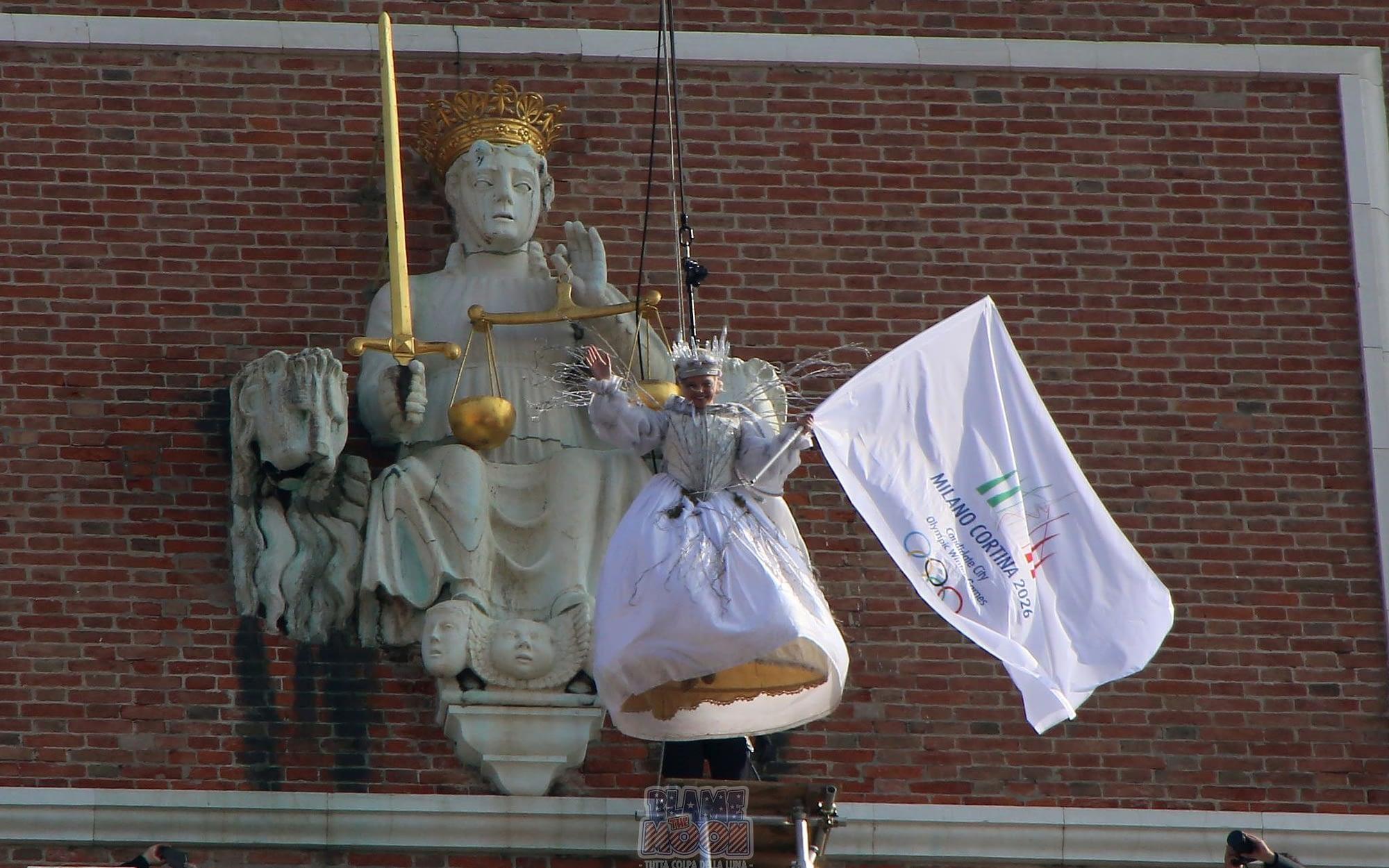 Venice Carnival Flight of the Eagle over St Mark's Square