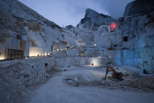 Pietrasanta Apuan Alps Marble Quarries at Night