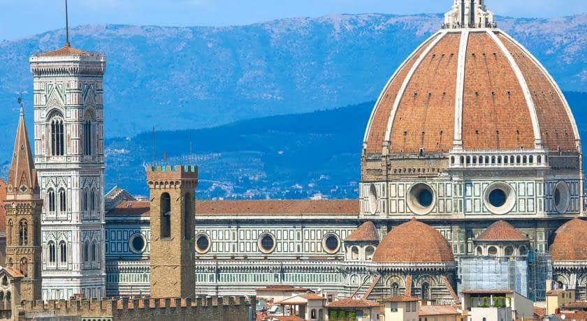 Florence - The Cathedral, dominated by Brunelleschi's Cupola and Giotto's Belltower