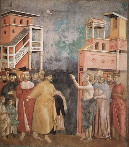 Giotto. St Francis Renunciation of Wordly Goods