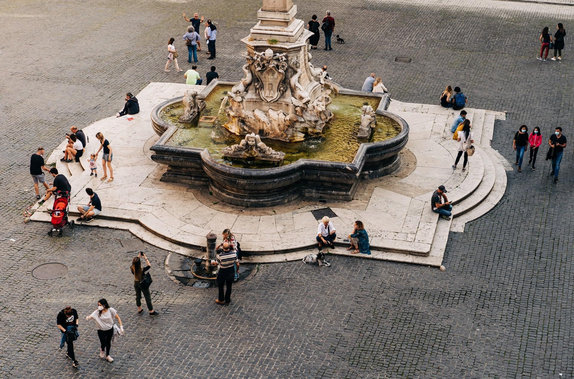 Rome Pantheon Square Piazza della Rotonda