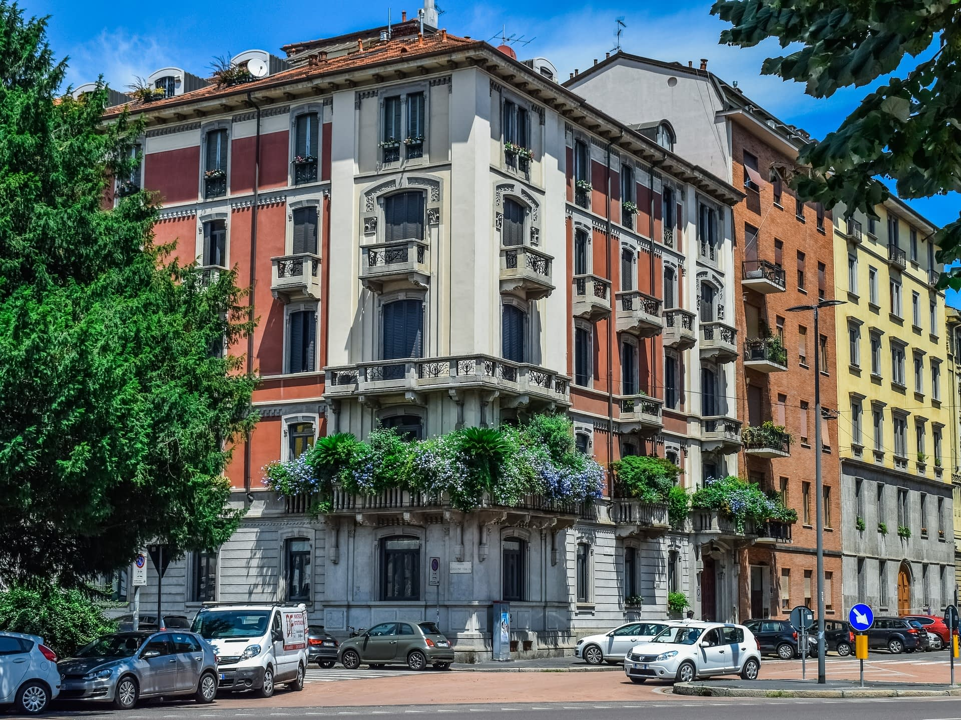 Houses in Milan Northern Italy