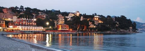 Santa Margherita Ligure on a summer night