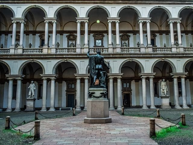 Milan - Pinacoteca di Brera, one of the world's greatest art galleries