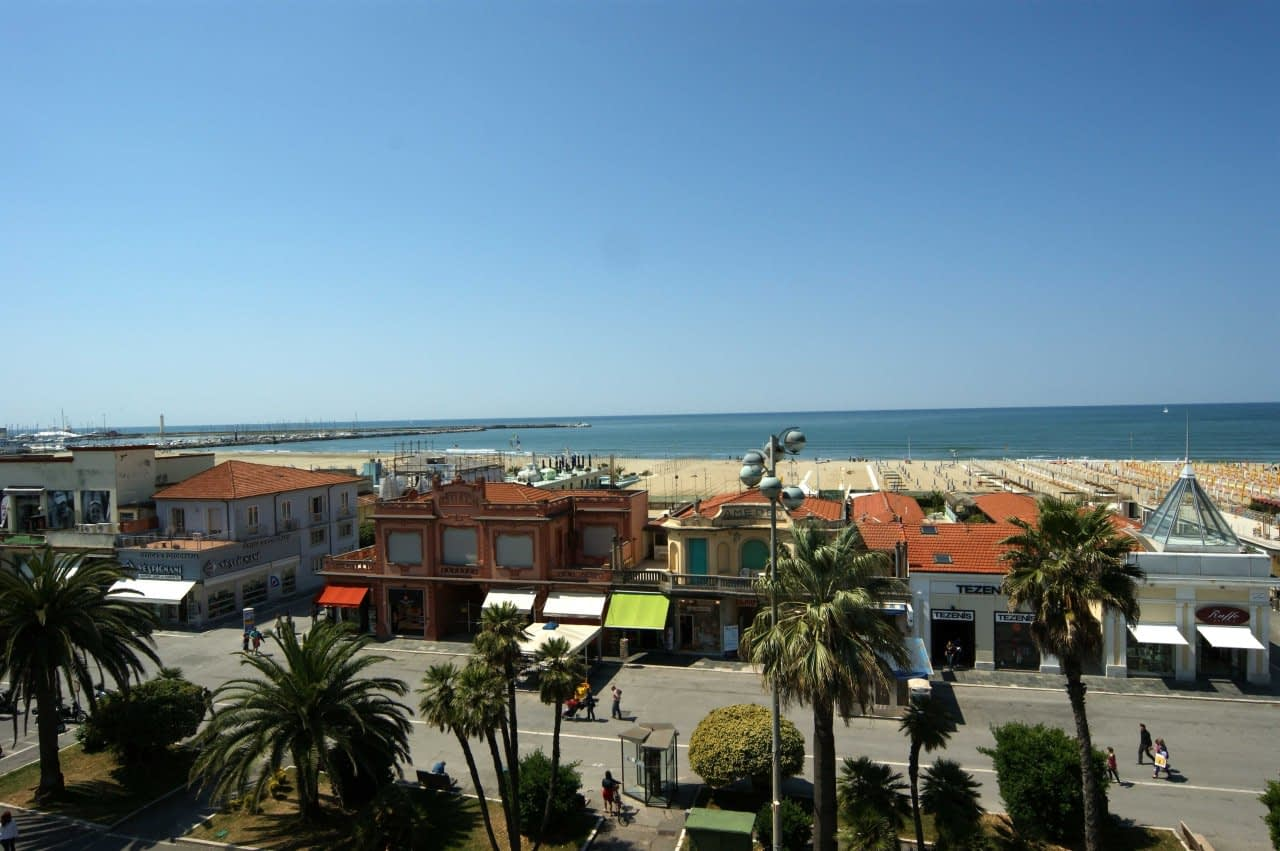View from Hotel Liberty in Viareggio