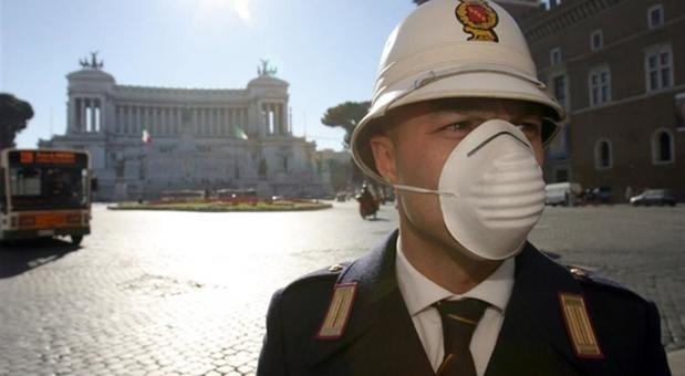 Rome, Italy, Coronavirus lockdown - deserted street