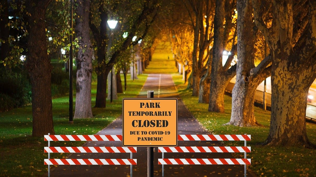 Covid-19 Lockdown Closed Park