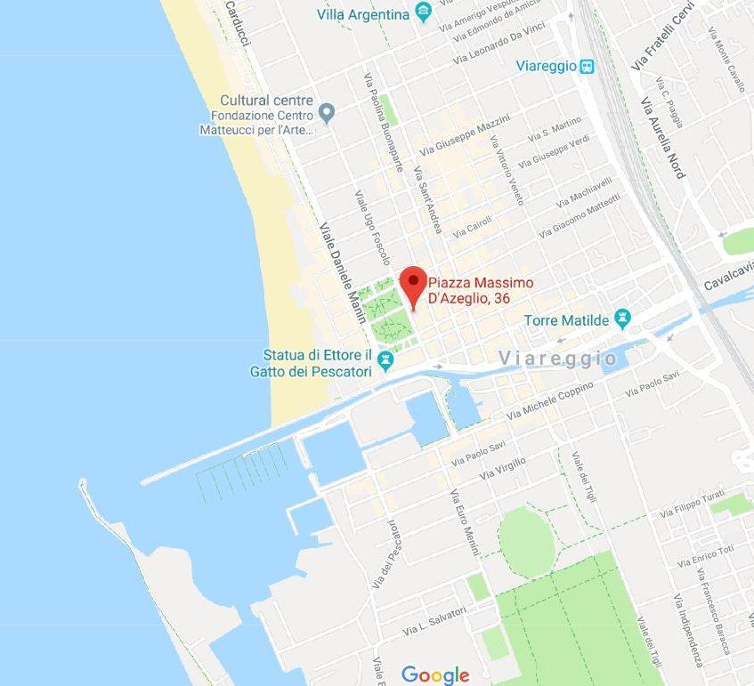 Map of location of Sea Gardens Apartment in Viareggio
